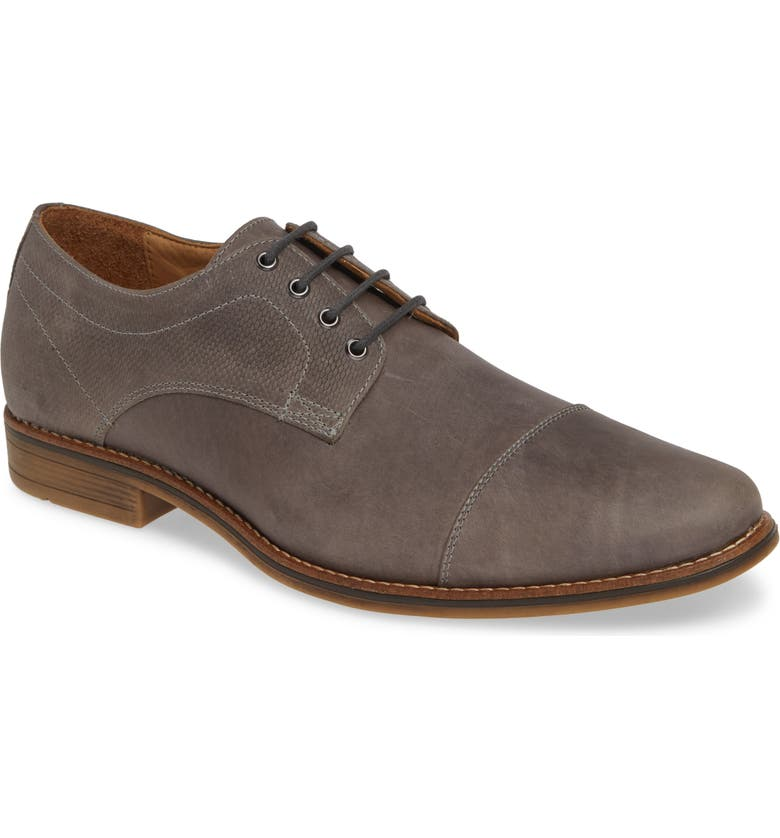1901 Goleta Cap Toe Derby, Main, color, GREY LEATHER