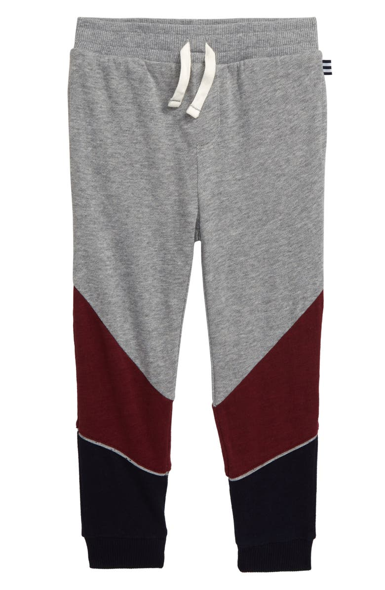 SPLENDID Three-Tone Jogger Pants, Main, color, LIGHT CHARCOAL HEATHER