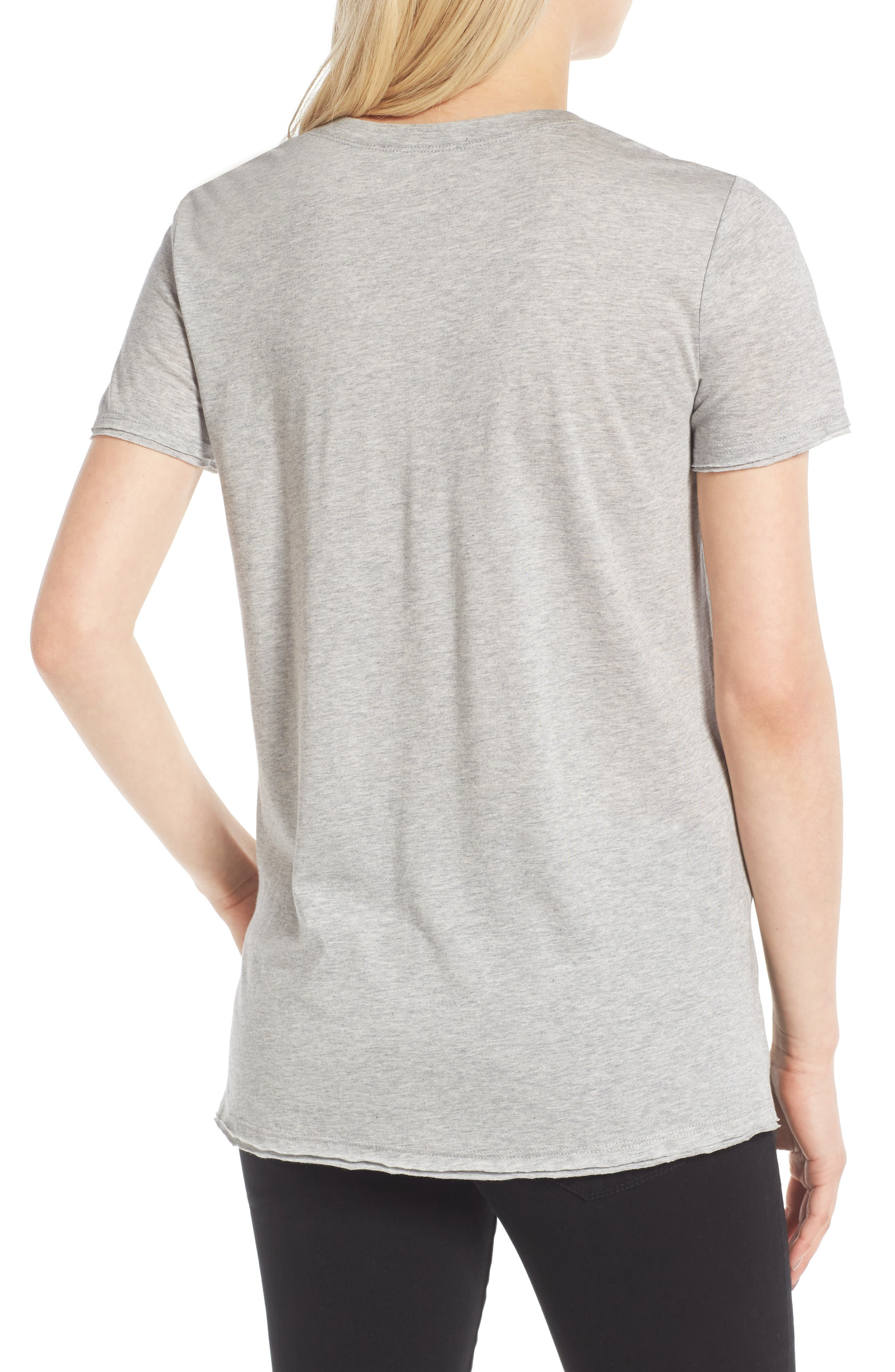 ,                             Raw Edge Side Slit Tee,                             Alternate thumbnail 26, color,                             035