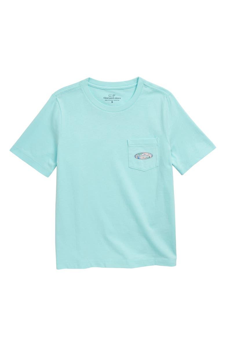 VINEYARD VINES Surfs Up Pocket T-Shirt, Main, color, BLUE MIST