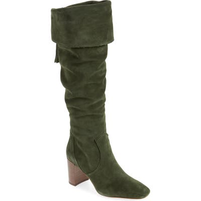Karl Lagerfeld Paris Razo Tassel Knee High Boot, Green