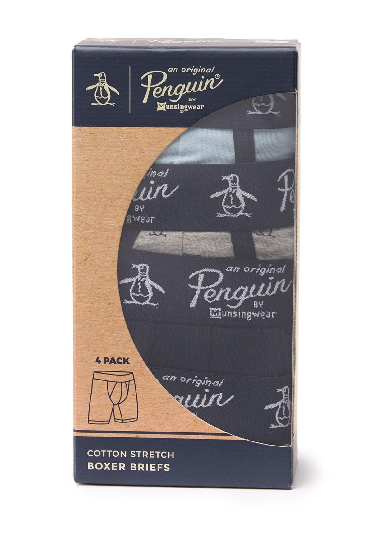 Image of Original Penguin Cotton Stretch Boxer Briefs - Pack of 4