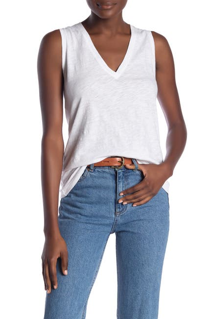 Image of Madewell V-Neck Knit Tank Top