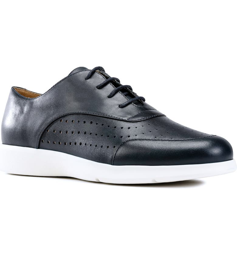 GEOX Arjola Derby Sneaker, Main, color, NAVY LEATHER