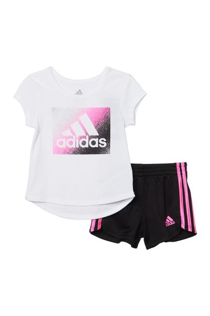Image of adidas Graphic T-Shirt & Shorts 2-Piece Set