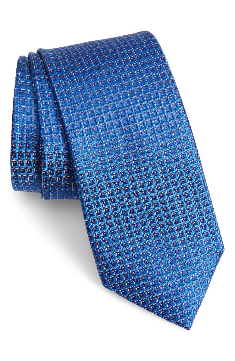 TED BAKER LONDON Check Silk Tie, Main, color, BLUE