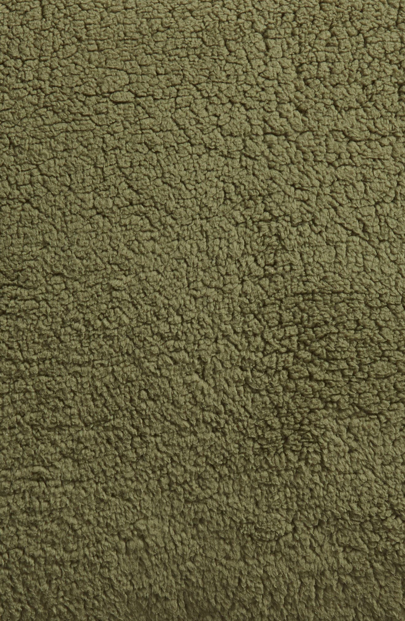 ,                             Faux Shearling Accent Pillow,                             Alternate thumbnail 3, color,                             GREEN SORREL