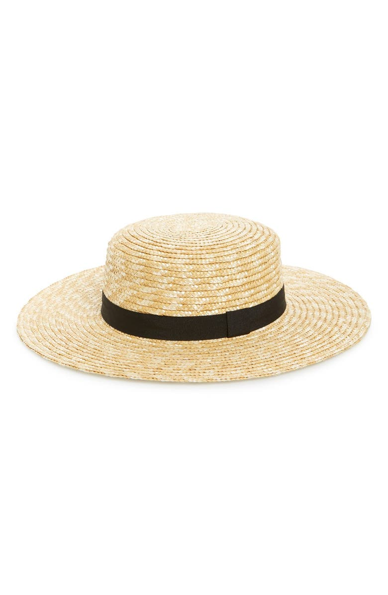 BP. Straw Boater Hat, Main, color, 250