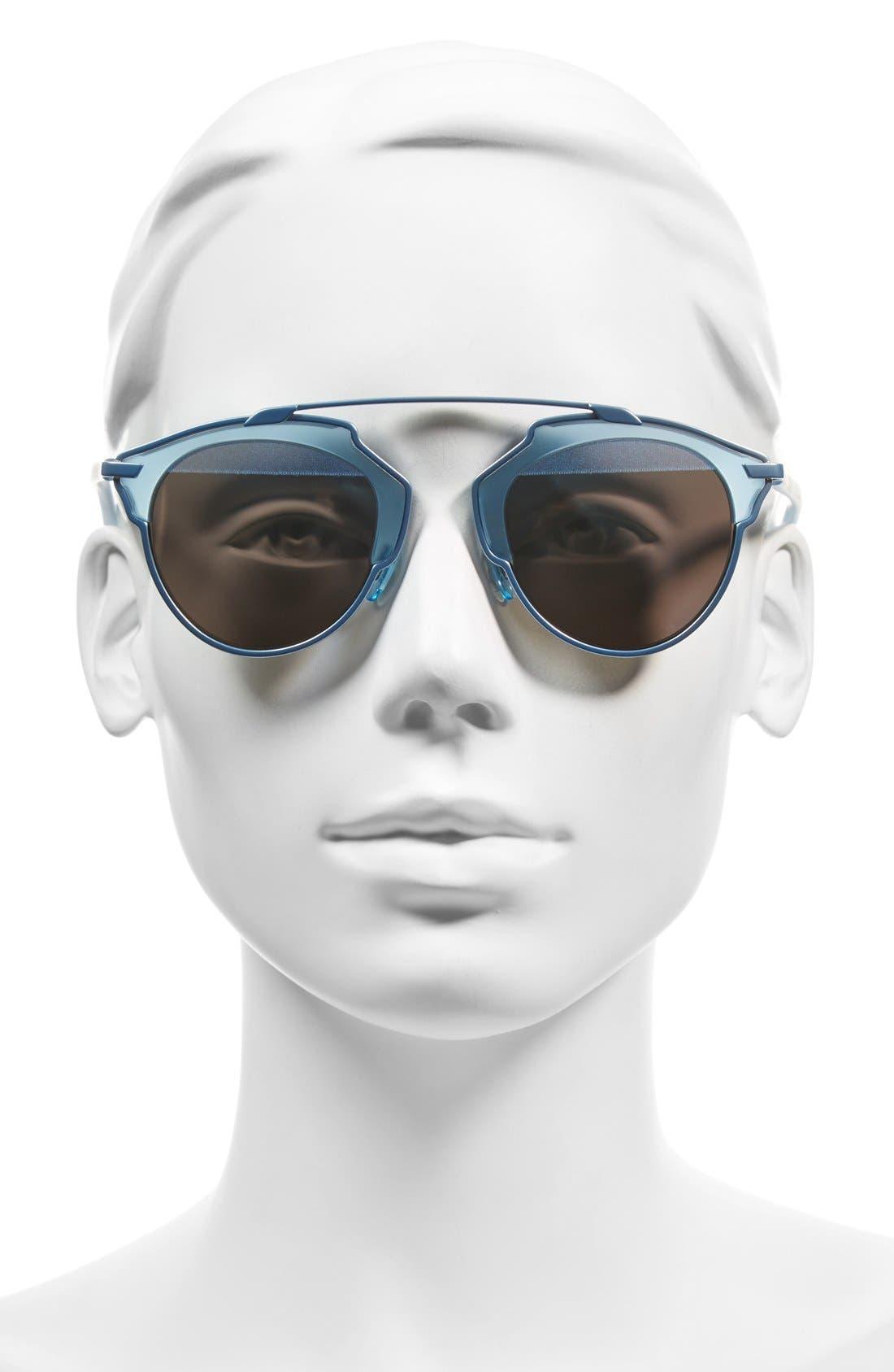 ,                             So Real 48mm Brow Bar Sunglasses,                             Alternate thumbnail 52, color,                             402