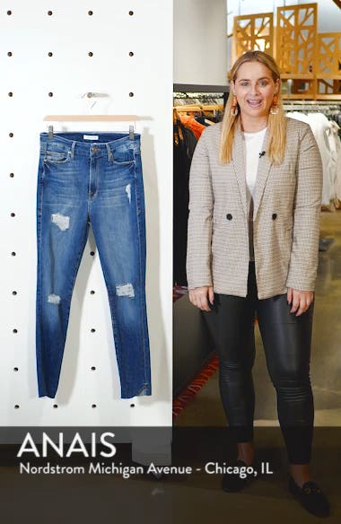 Good Waist Cascade Hem Skinny Jeans, sales video thumbnail