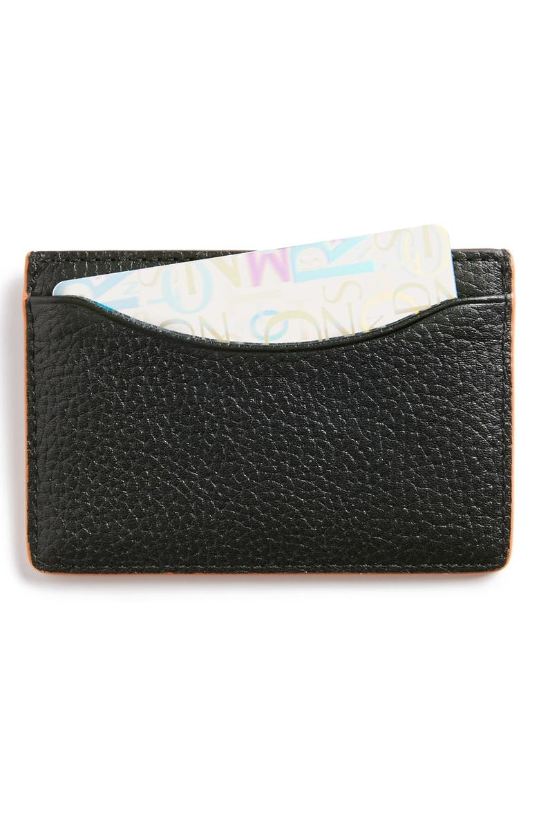 JACK SPADE 'Mason' Leather Card Holder, Main, color, 001