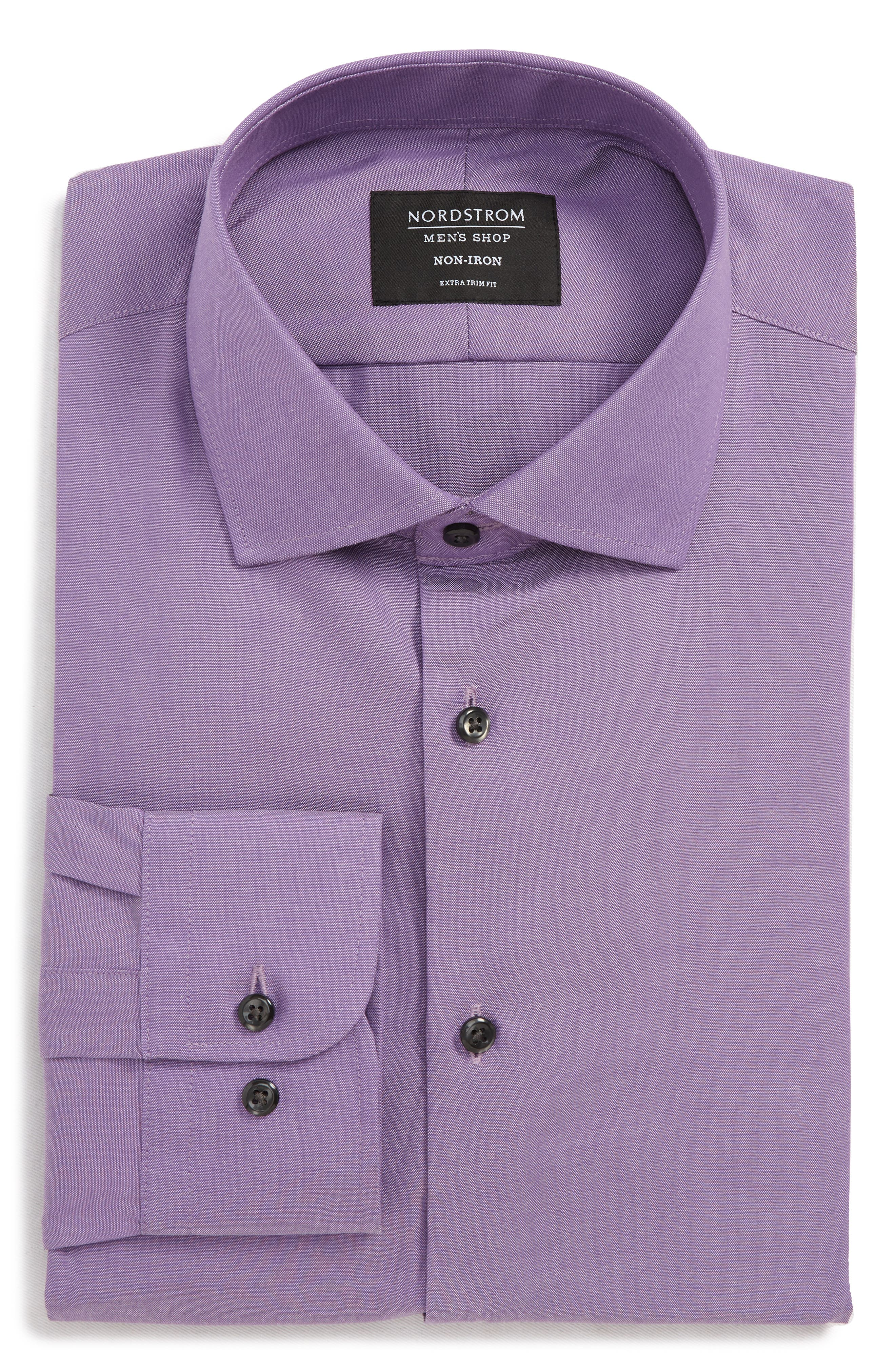 ,                             Extra Trim Fit Non-Iron Solid Dress Shirt,                             Alternate thumbnail 29, color,                             510