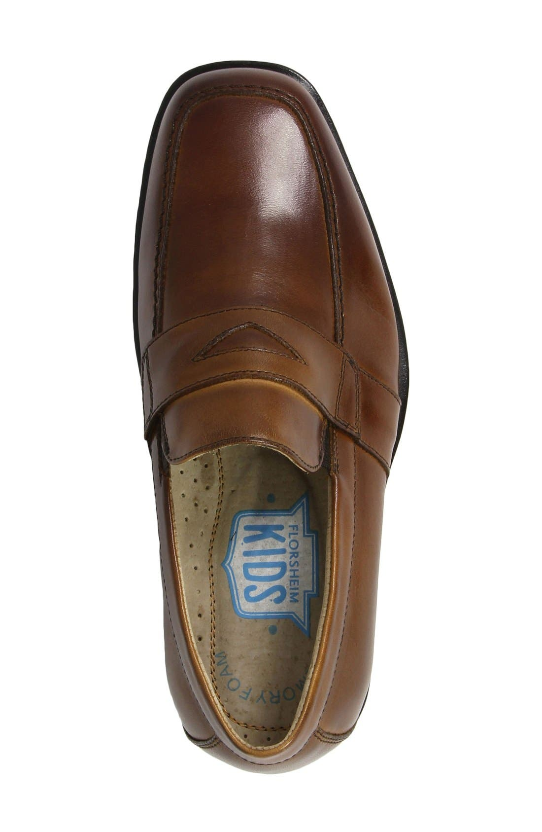 ,                             'Reveal' Penny Loafer,                             Alternate thumbnail 3, color,                             COGNAC LEATHER