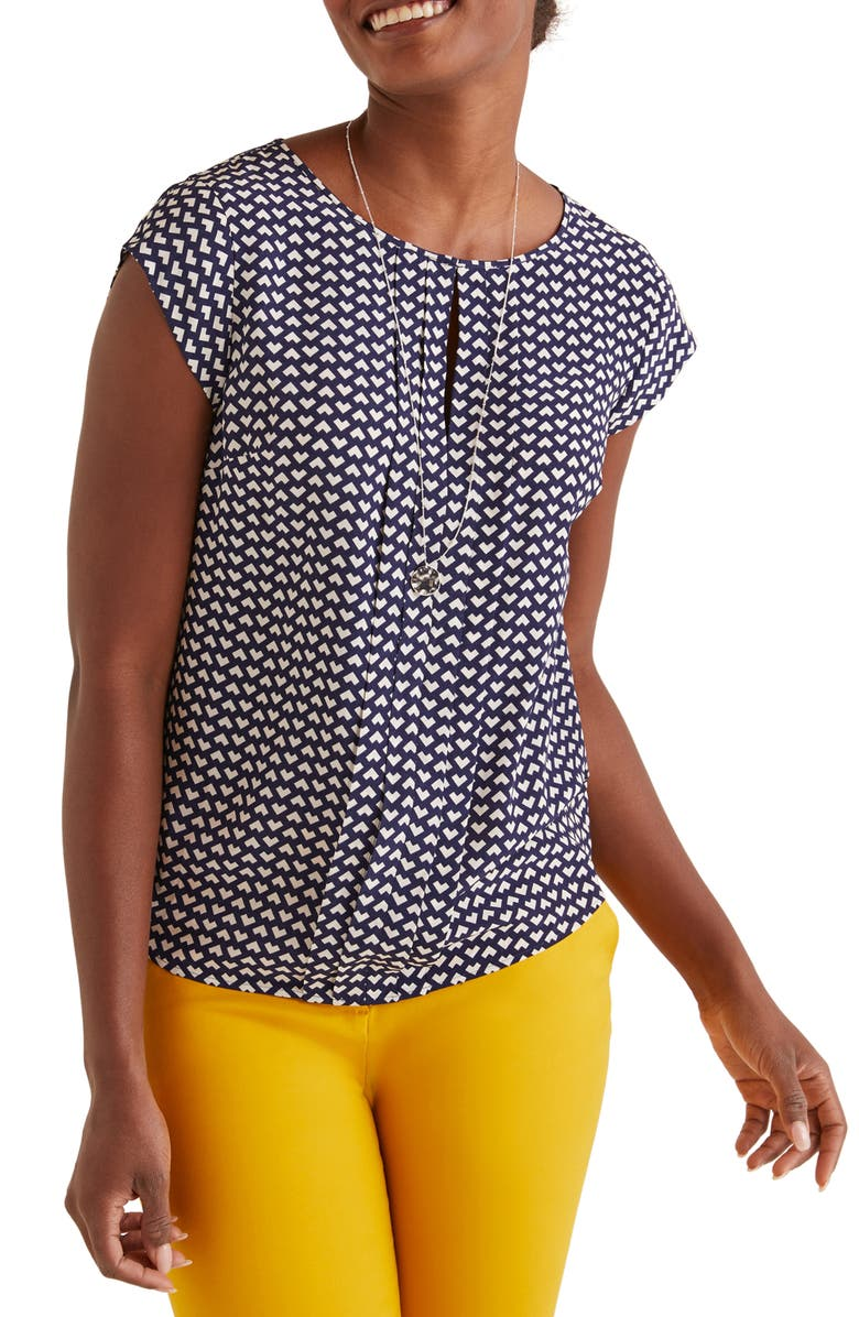 BODEN Pleated Front Top, Main, color, 414