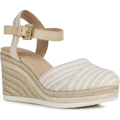 Geox Ponza Wedge Sandal, Beige