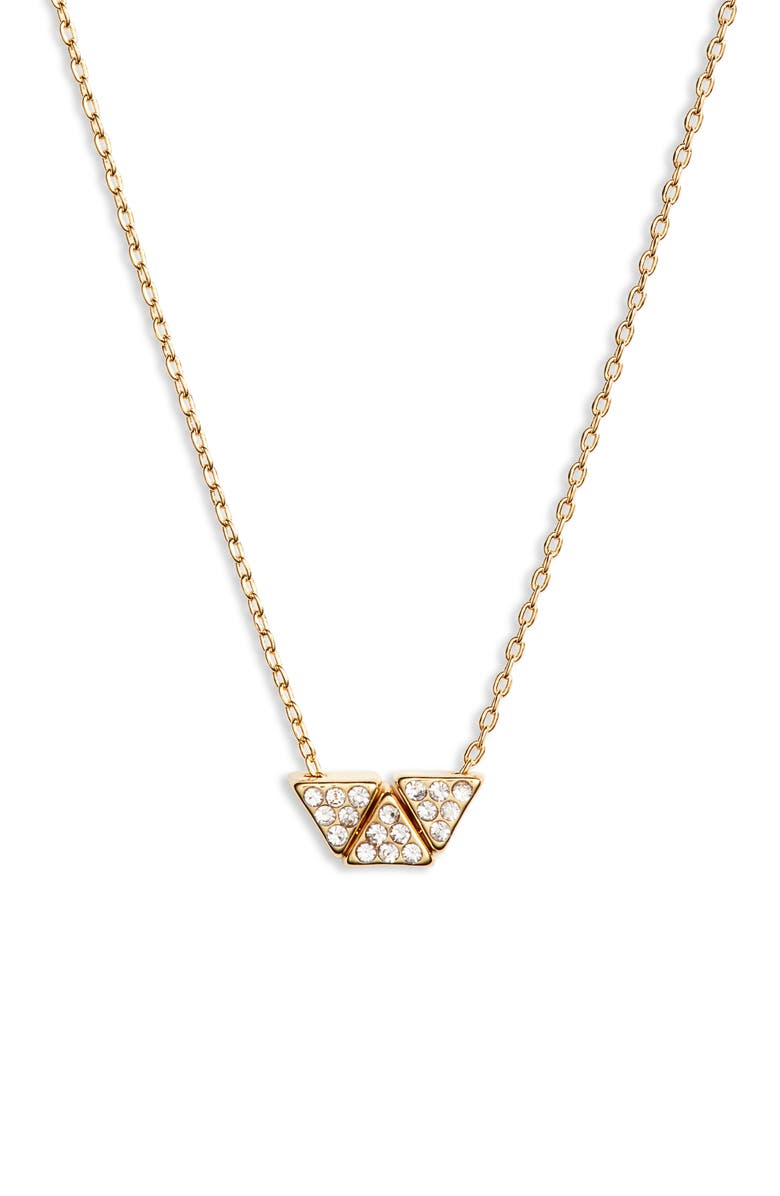 UNCOMMON JAMES BY KRISTIN CAVALLARI Triple Threat Necklace, Main, color, GOLD