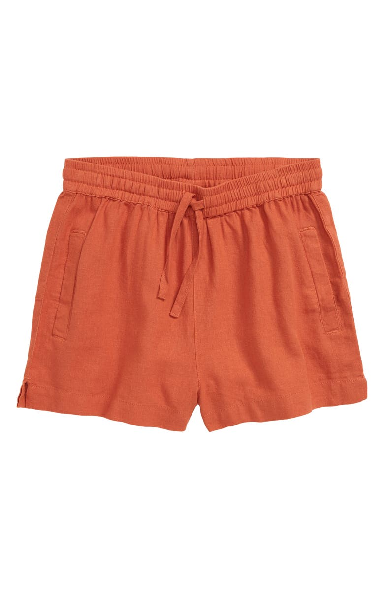 SEED HERITAGE Core Linen Blend Shorts, Main, color, DESERT