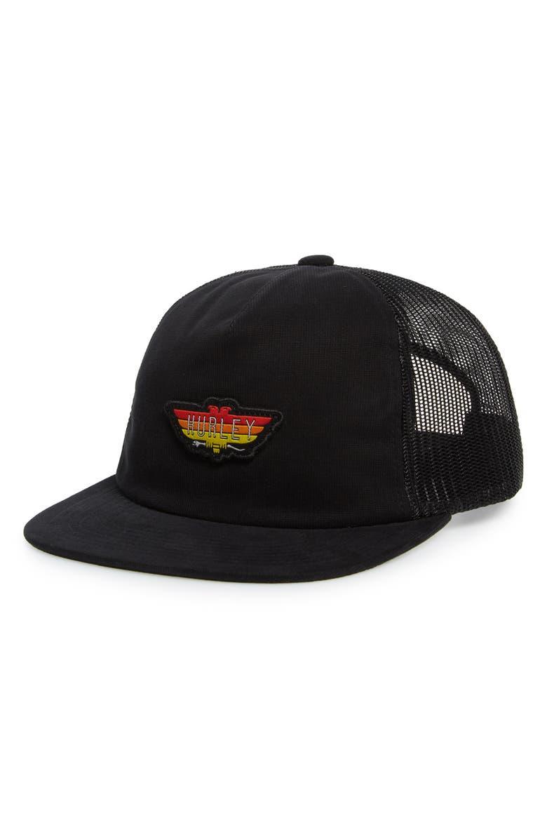 HURLEY Bird Bar Trucker Hat, Main, color, 001