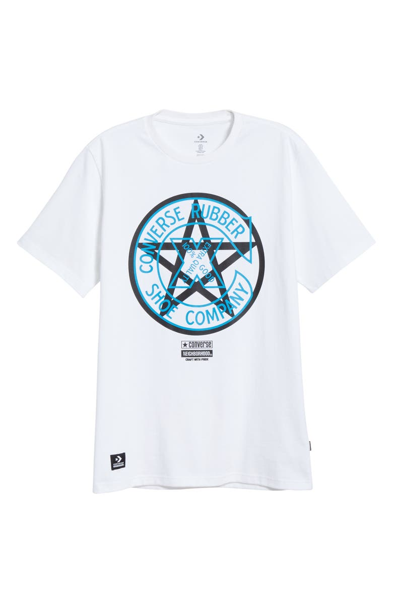 CONVERSE x NEIGHBORHOOD Graphic T-Shirt, Main, color, WHITE