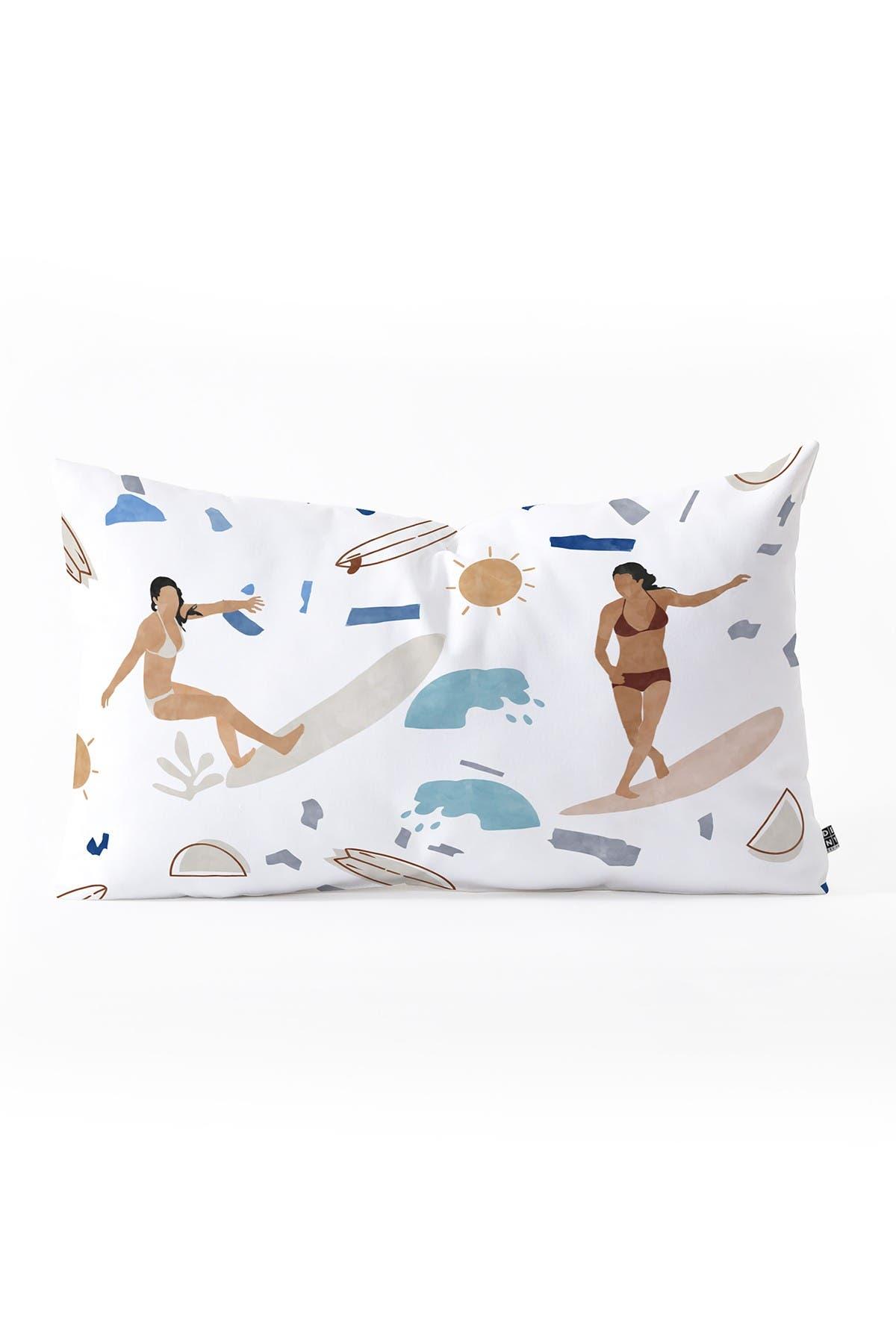 Image of Deny Designs Marta Barragan Camarasa Surfing the Terrazzo Sea Oblong Throw Pillow
