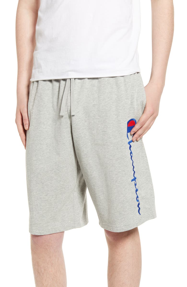 CHAMPION Jersey Jammer Shorts, Main, color, OXFORD GREY