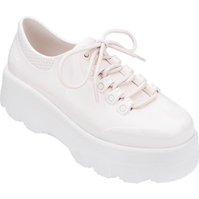 Melissa Kickoff Platform Jelly Sneaker, White