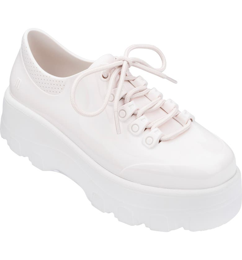 MELISSA Kickoff Platform Jelly Sneaker, Main, color, WHITE