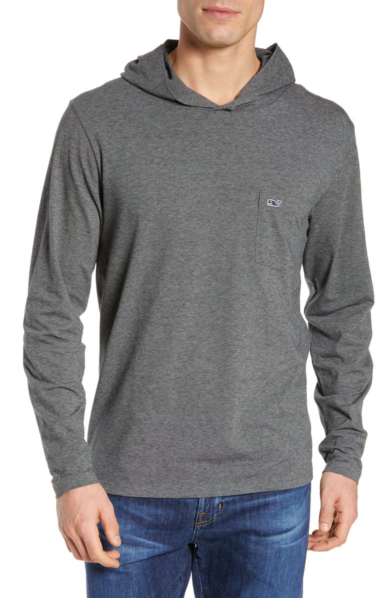 VINEYARD VINES Edgartown Performance Hooded T-Shirt, Main, color, 011