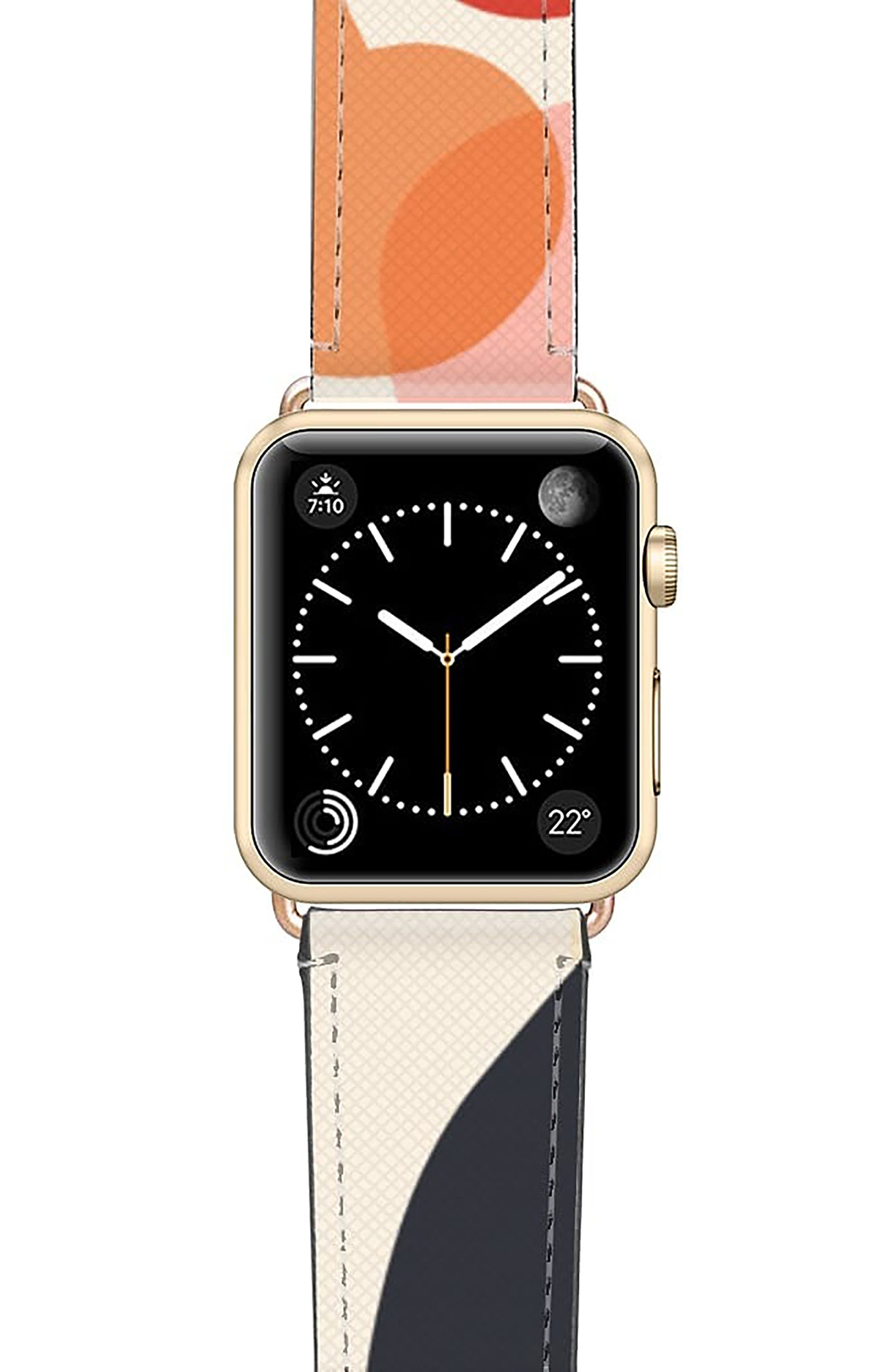 CASETiFY Cool Beans Saffiano Faux Leather Apple Watch(R) Strap
