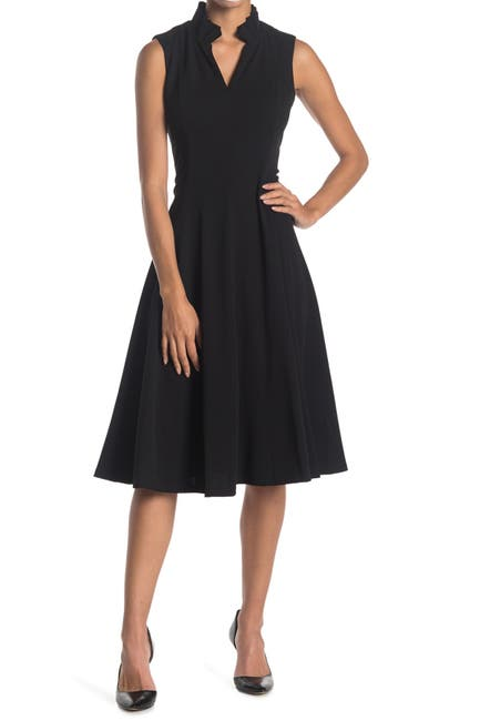 Image of Calvin Klein Sleeveless A-Line Dress