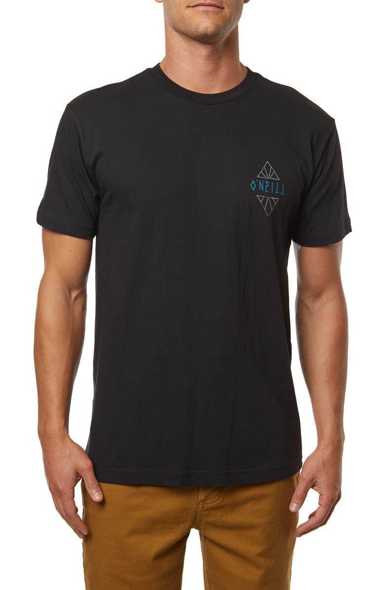 O'NEILL Big Set Graphic T-Shirt, Main, color, BLACK
