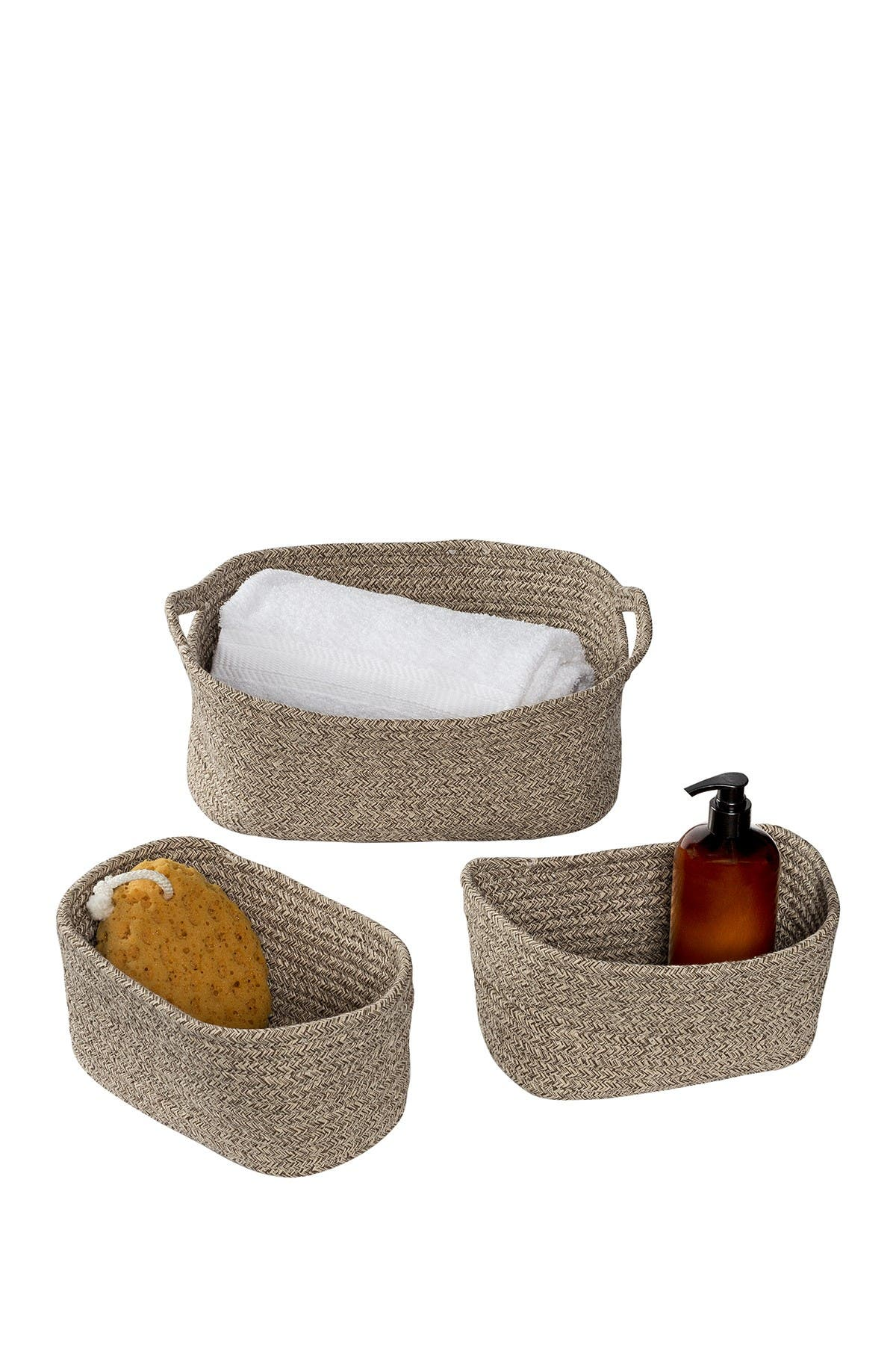 Image of Honey-Can-Do Marled Sand Nested Texture Basket 3-Piece Set