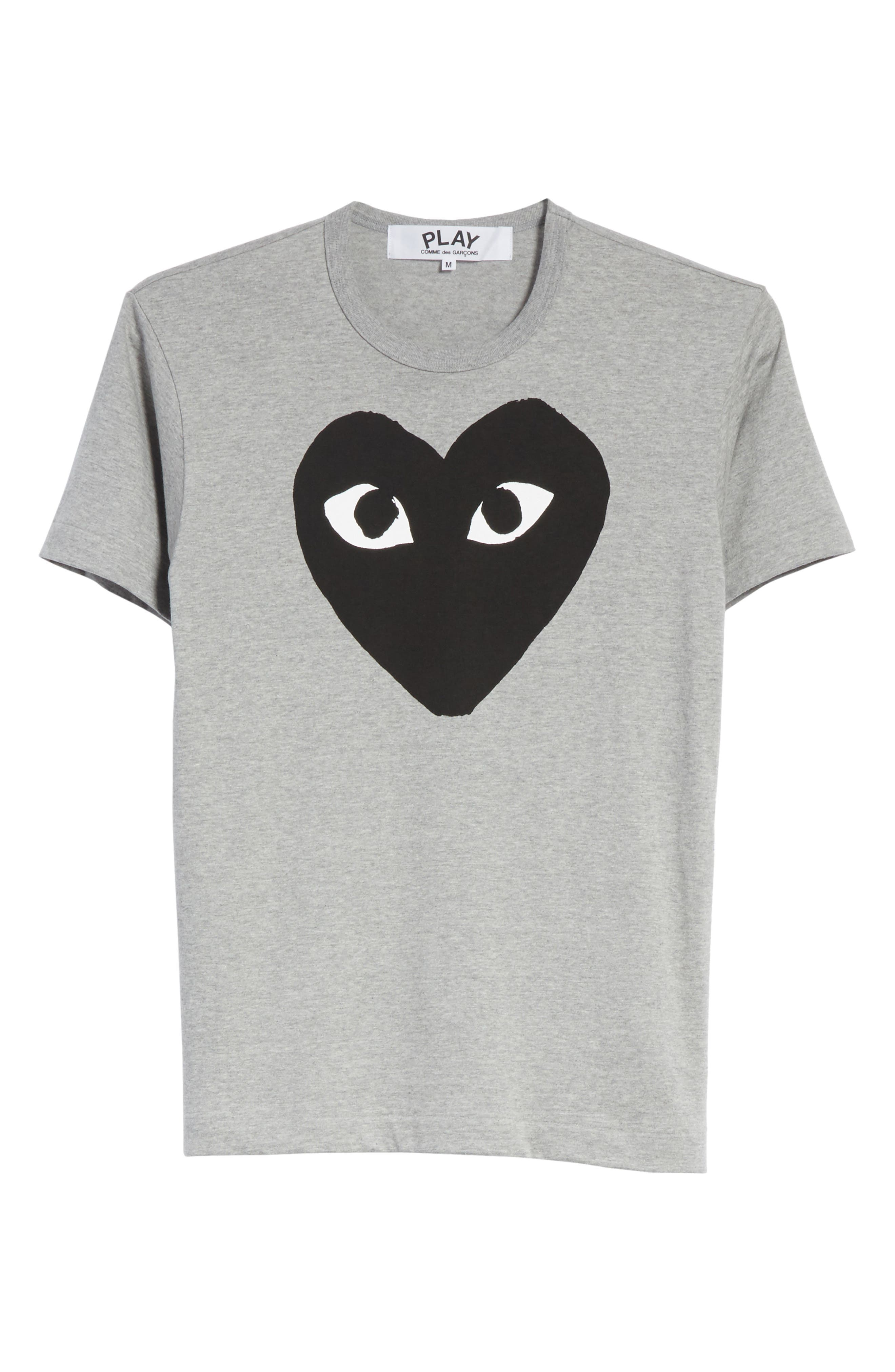 ,                             Logo Slim Fit Graphic Crewneck T-Shirt,                             Alternate thumbnail 6, color,                             TOP DYED GRAY