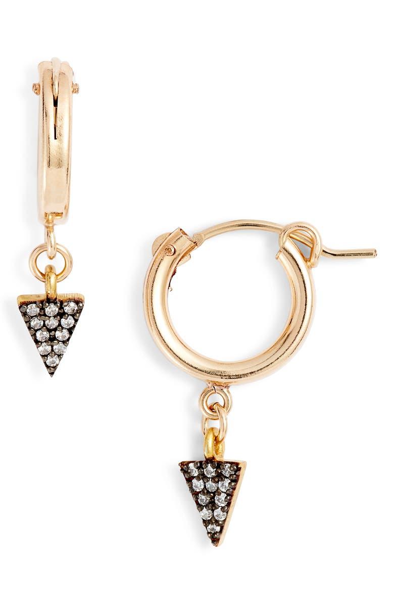 MARIDA Trifecta Hoop Earrings, Main, color, SILVER/ GOLD