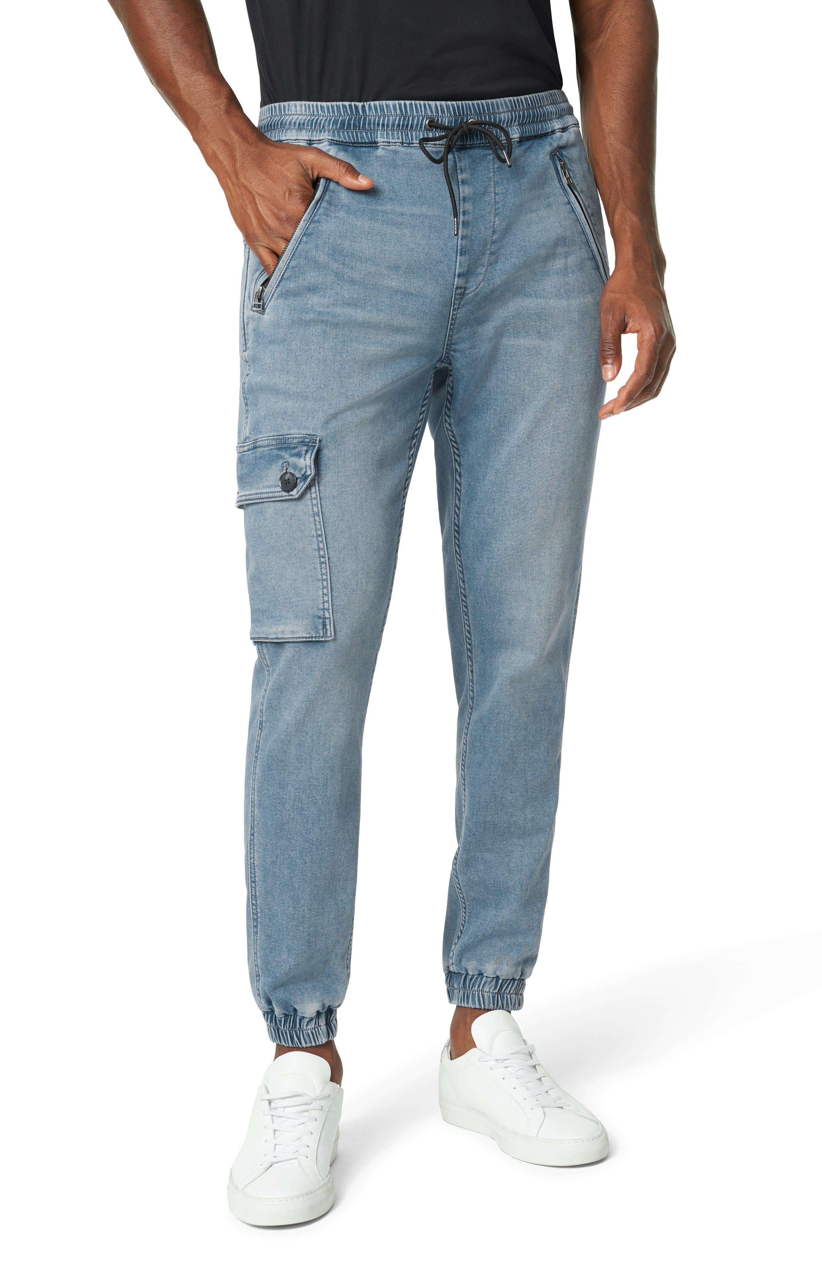 Men's Vintage Pants, Trousers, Jeans, Overalls Mens Joes Slim Fit Drop Yoke Cargo Jogger Jeans $111.00 AT vintagedancer.com
