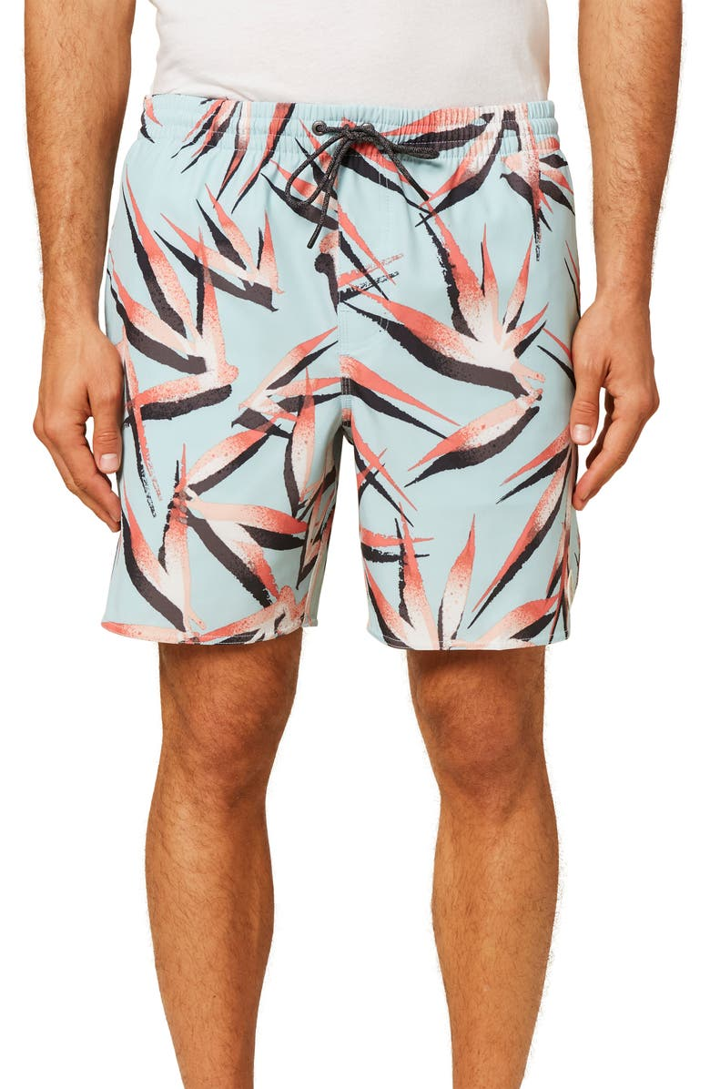 O'NEILL Birds Volley Swim Trunks, Main, color, ICE WATER