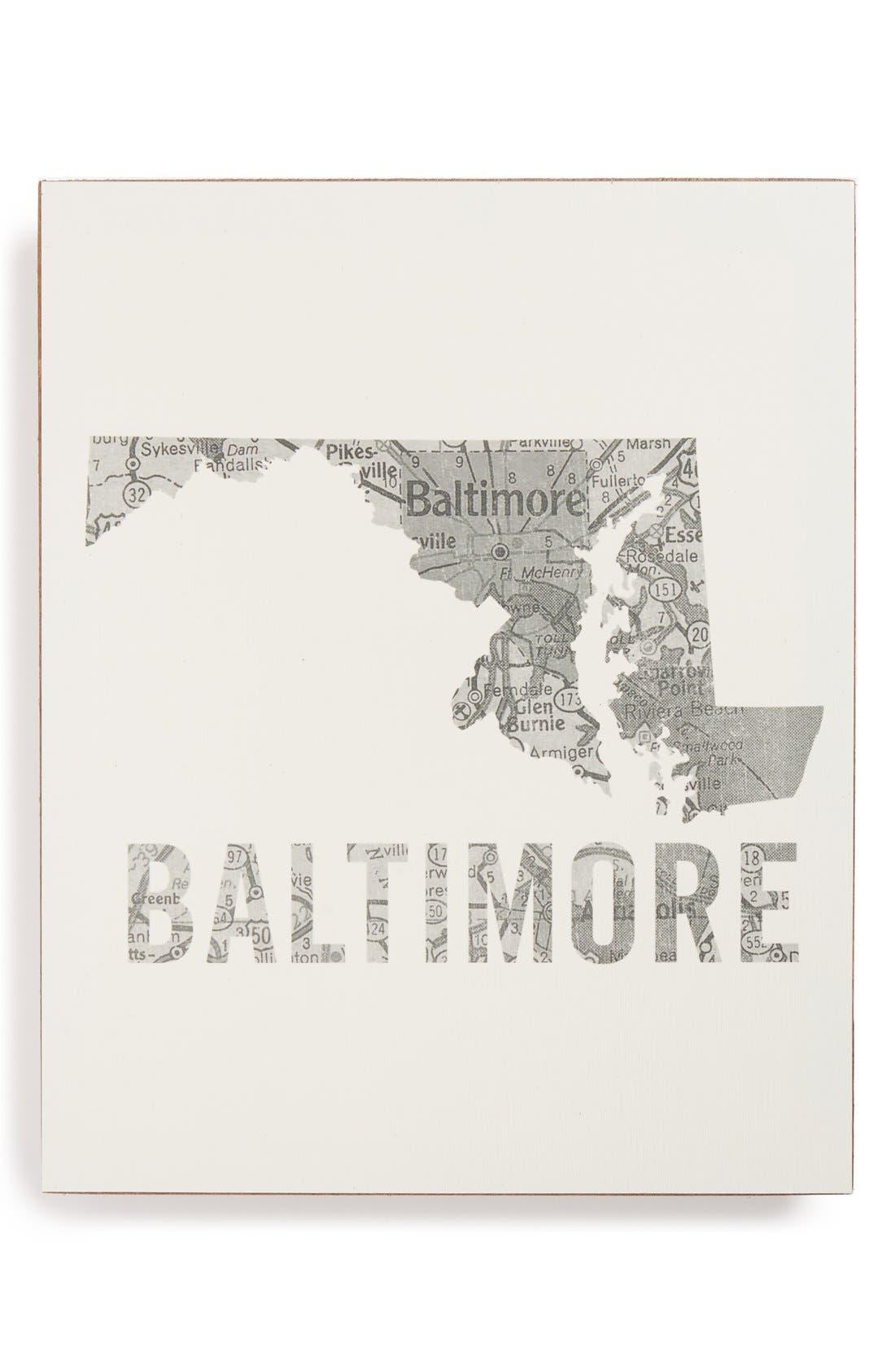 ,                             City Map Wall Art,                             Main thumbnail 4, color,                             023
