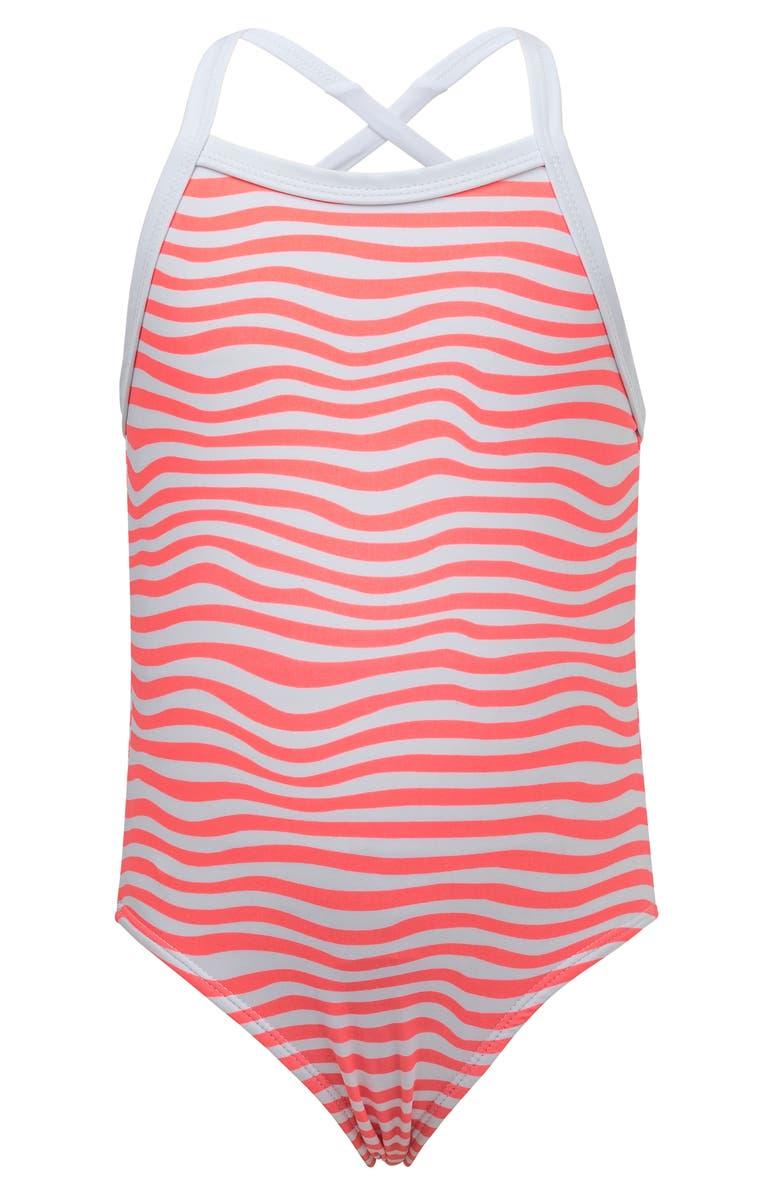 Snapper Rock Orange Crush Stripe One-Piece Swimsuit (Toddler