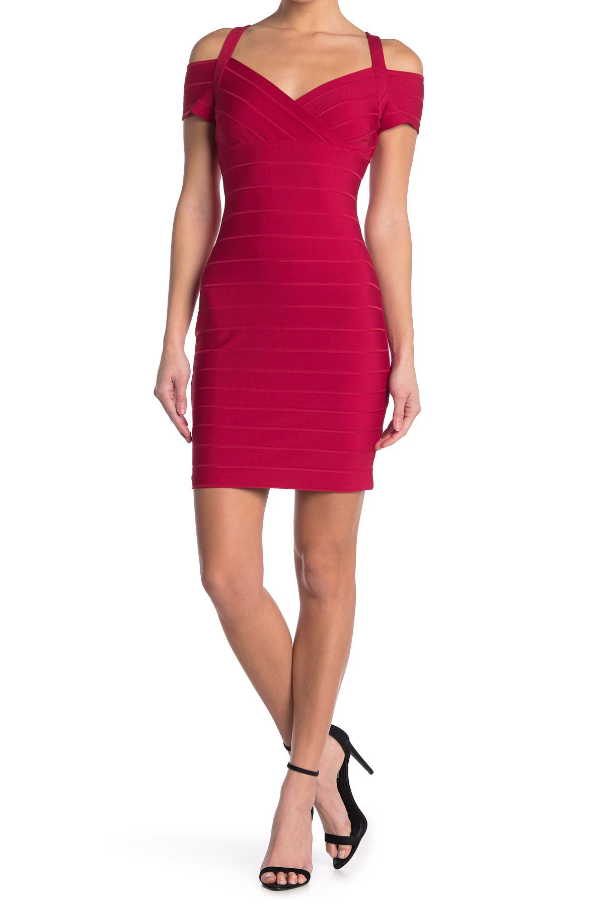 Image of GUESS Cold Shoulder Bandage Dress