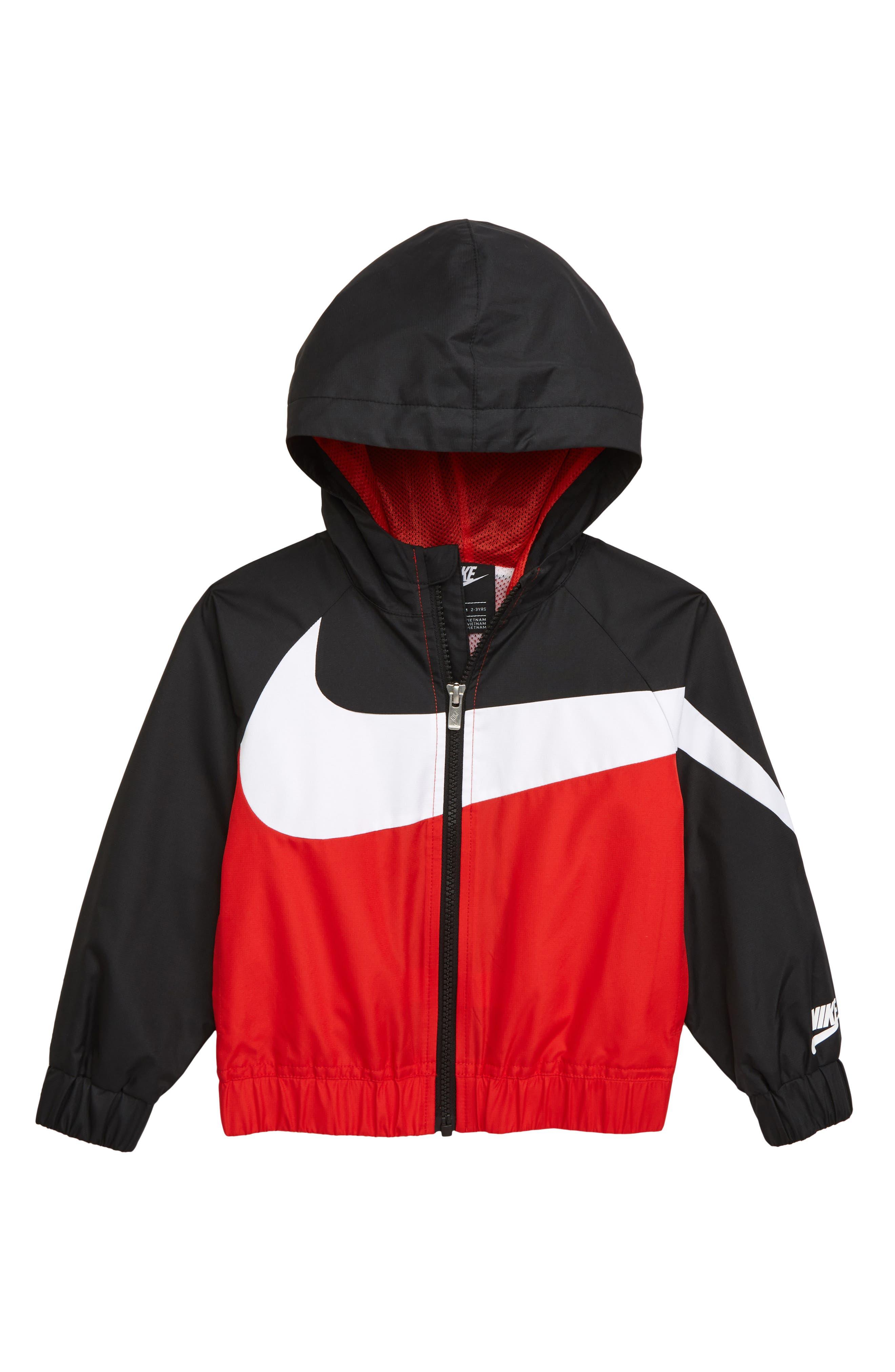 Boys Nike Oversize Windrunner Hooded Jacket Size 5  Red