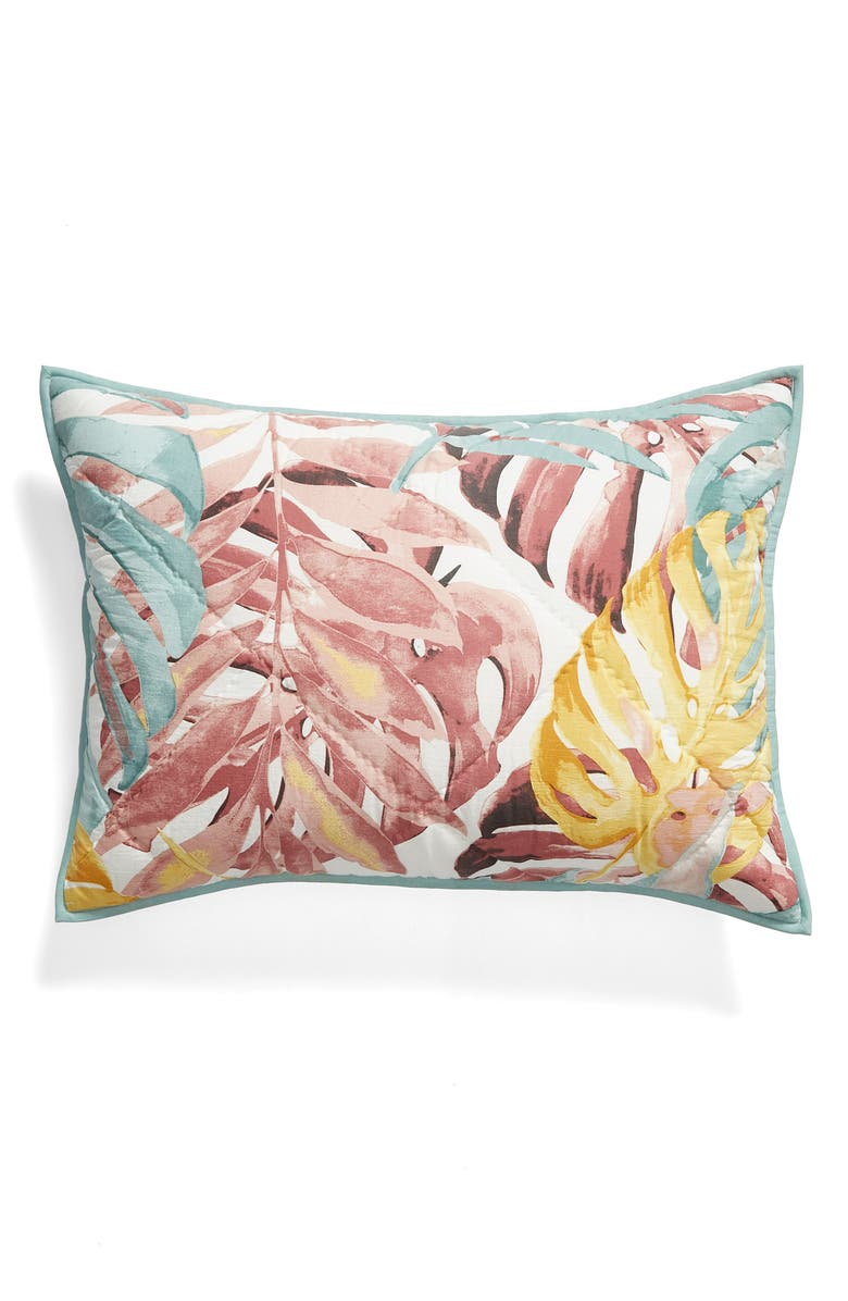 NORDSTROM AT HOME Paradise Print Sham, Main, color, PINK PARADISE MULTI