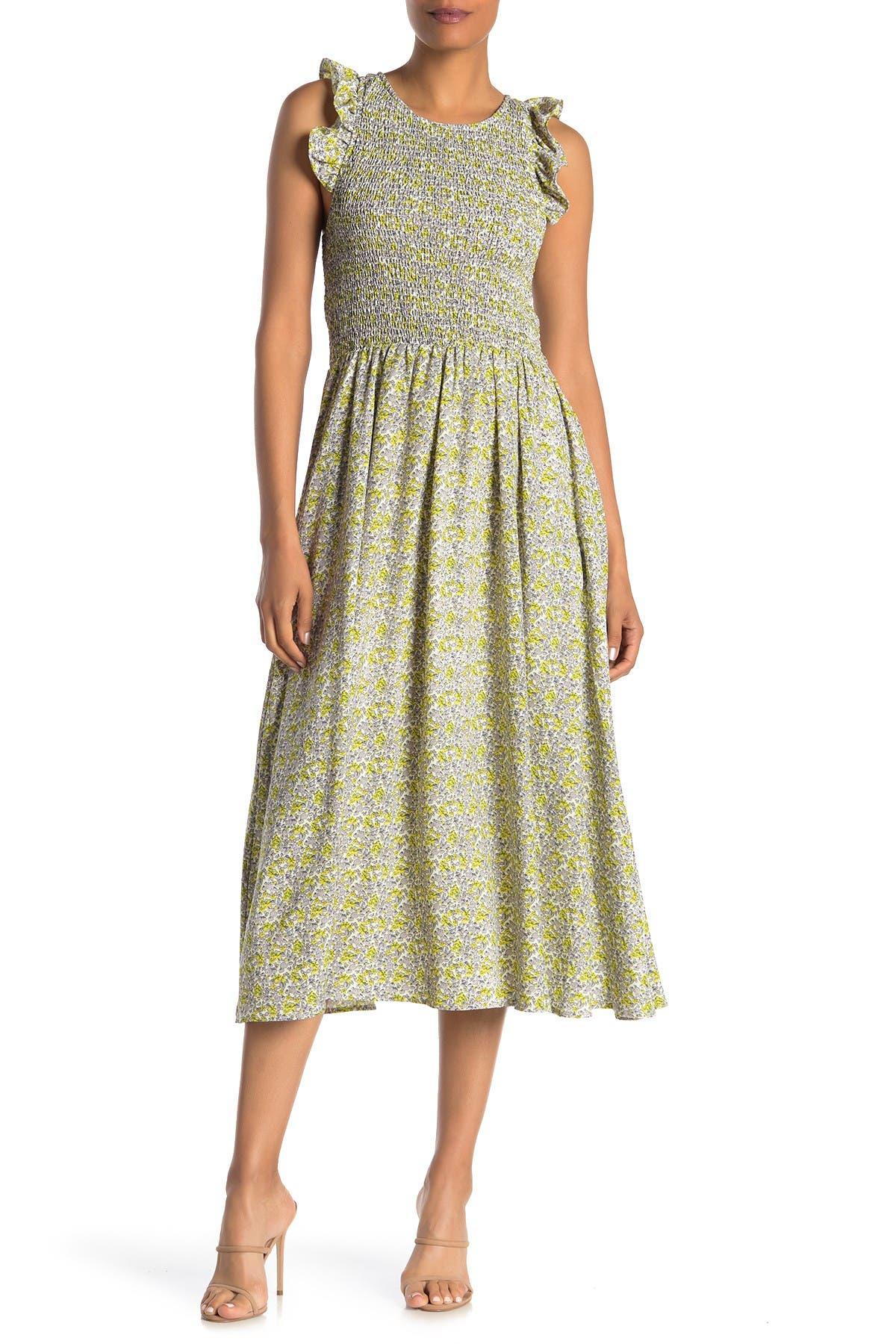 Image of MELLODAY Smocked Cap Sleeve Maxi Dress