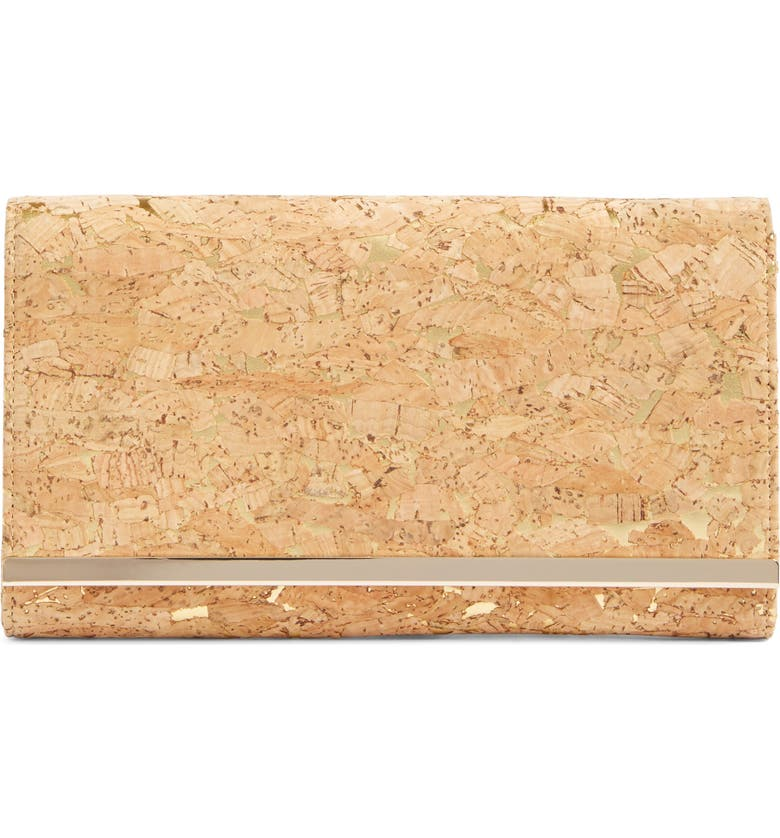 GLINT Metallic Faux Cork Clutch, Main, color, 710
