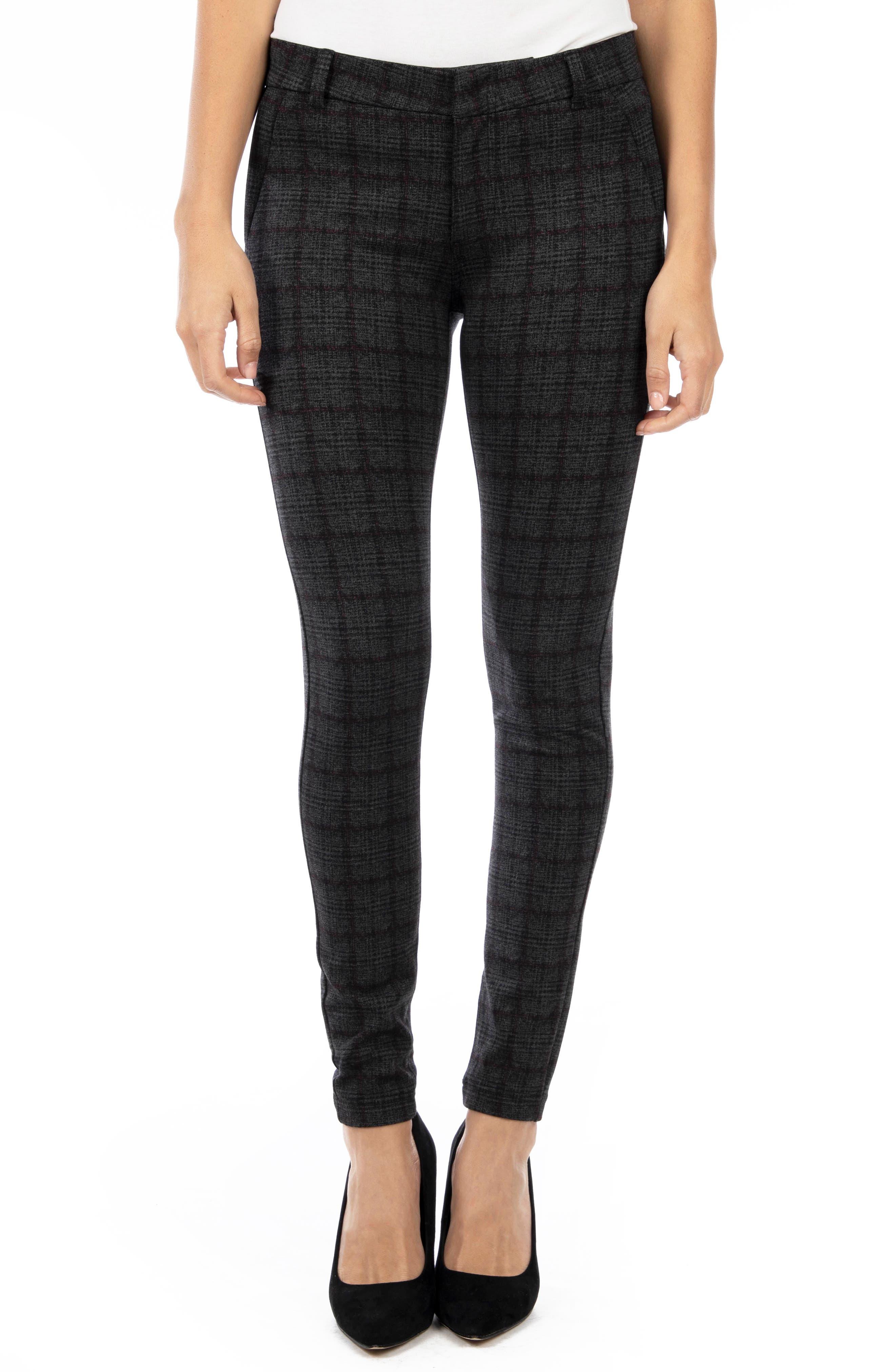 Women's Kut From The Kloth Mia Plaid Skinny Pants,  10 - Grey