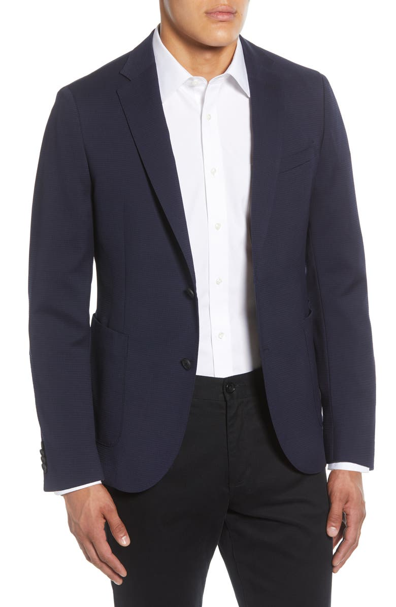 BOSS Nelven Trim Fit Solid Stretch Wool & Cotton Sport Coat, Main, color, 410