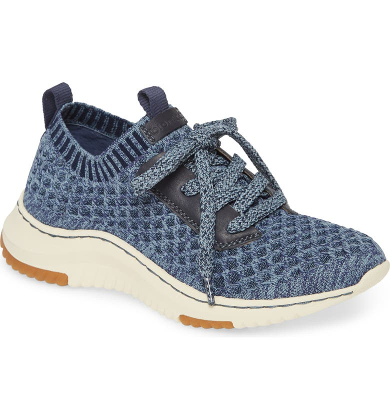 BIONICA Onie Recycled Sneaker, Main, color, NAVY/ LIGHT BLUE FABRIC