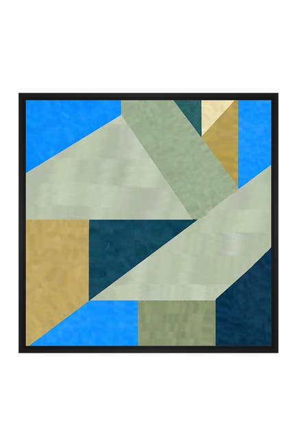 Image of PTM Images Bold Abstract Large XLV Floater Framed Canvas