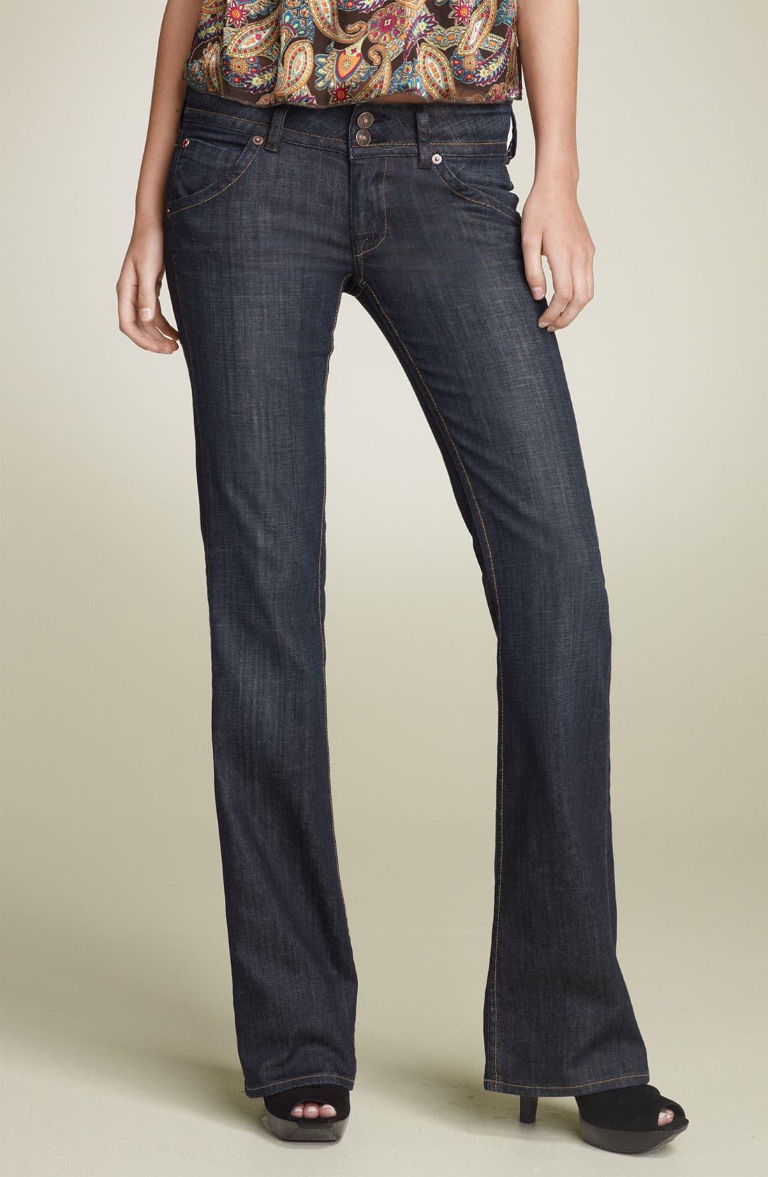 ,                             Signature Flap Pocket Bootcut Jeans,                             Main thumbnail 28, color,                             403