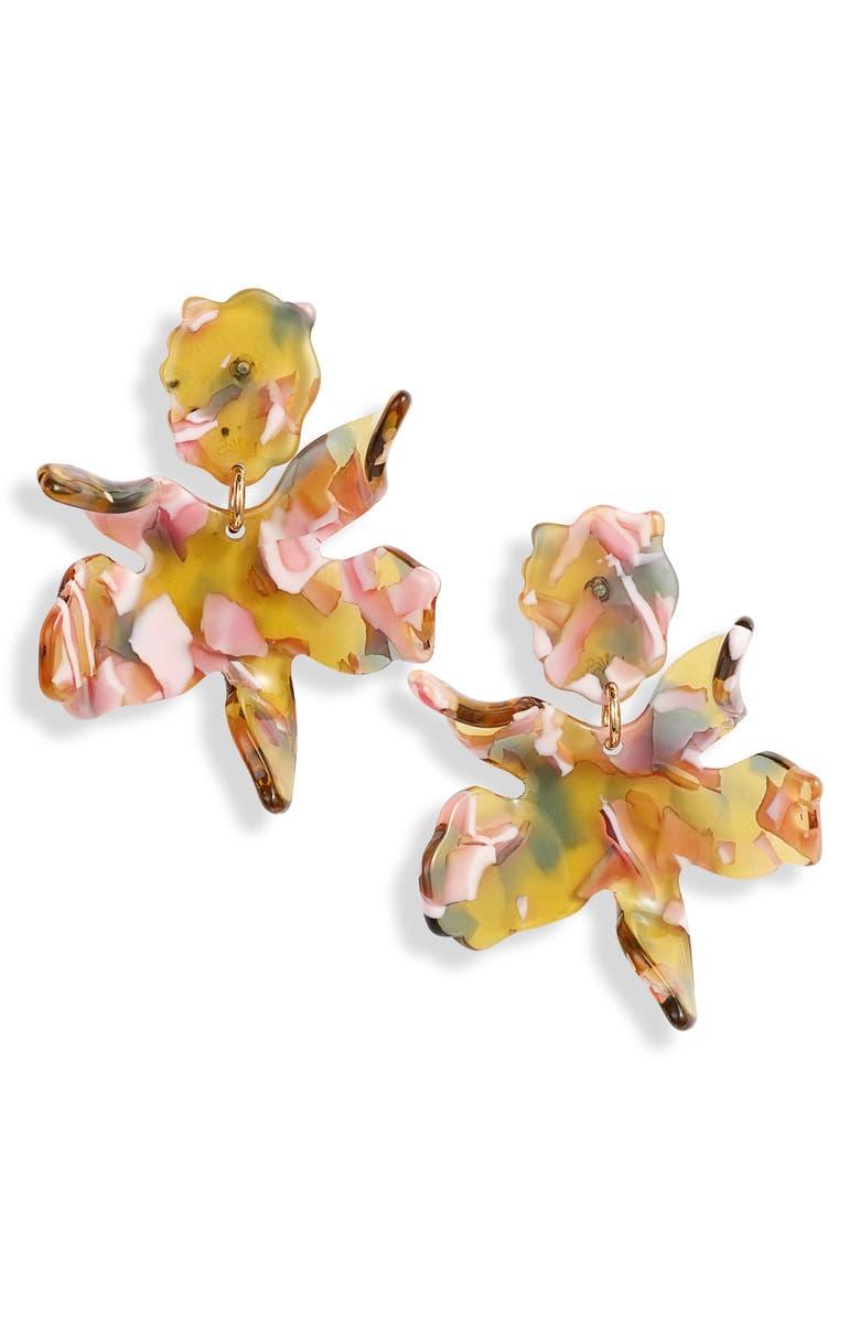 LELE SADOUGHI Memphis Small Paper Lily Drop Earrings, Main, color, 800