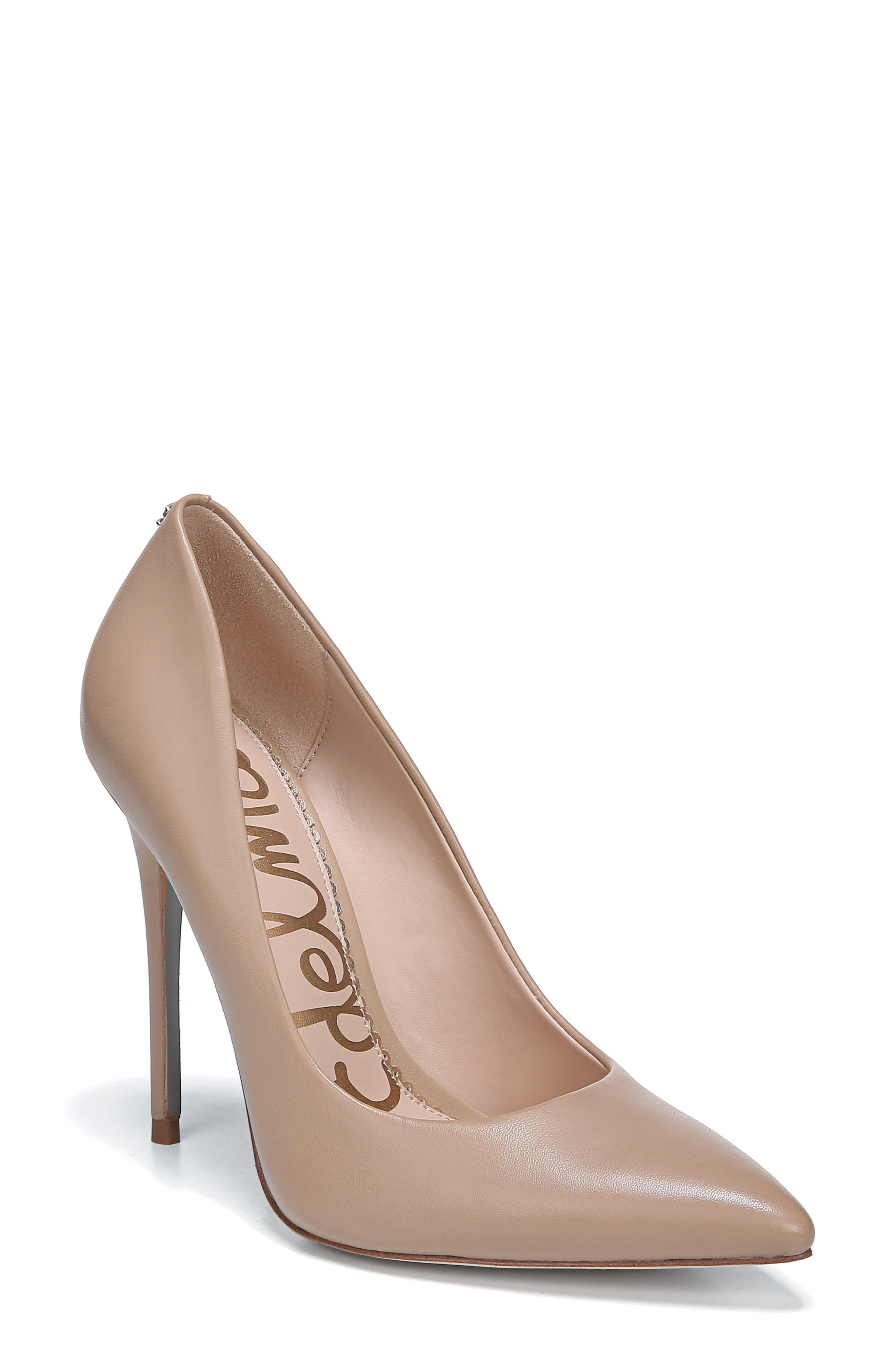 ,                             Danna Pointy Toe Pump,                             Main thumbnail 1, color,                             CLASSIC NUDE LEATHER